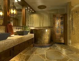 brown mosaic ceramic floor tile wall large mirror elegant wall