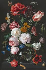 Glass Vase Painting Still Life With Flowers In A Glass Vase Painting By Jan Davidsz De