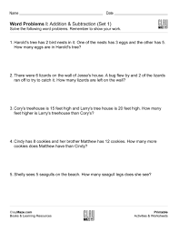 word problem addition and subtraction word problems i addition subtraction free children s