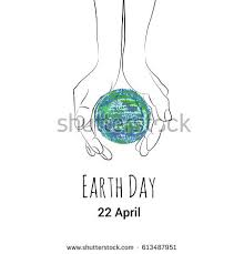 vector poster world earth day showing stock vector 610110995