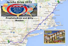 I 95 Map Announcing The Jericho Drive A Coast To Coast Prophetic