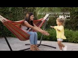 best choice products u0027 double hammock w steel stand youtube
