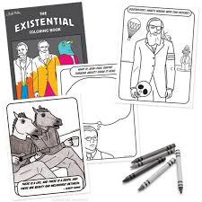 existential coloring book archie mcphee u0026