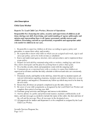 Childcare Worker Resume Cover Letter Resume For Childcare Resume For A Childcare Provider