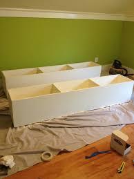 Bed Frames Storage Bed Frames Storage Portion Done How To Make Frame Diy Farmhouse
