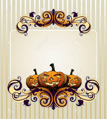 halloween party invitation background halloween invitation or background with pumpkin royalty free