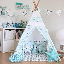 tipi enfant chambre tente tipi enfant avec 4 mâts and tapis de sol tente de jeu tipi