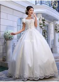 wedding gowns with sleeves scoop half sleeves sweep gown wedding dresses