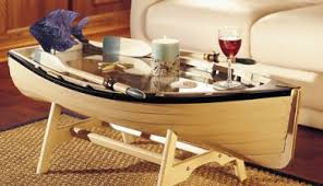 theme furniture cannoe table boat coffee table nautical furniture nautical