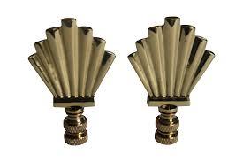 Art Deco Style Brass Art Deco Style Fan Finials A Pair Chairish