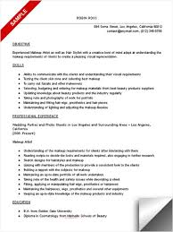 Examples Of Qualifications For Resume Makeup Artist Resume Sample