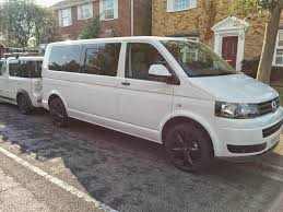 volkswagen kombi 2008 awesome example of a white vw transporter t5 with 18