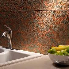 Copper Tiles For Kitchen Backsplash Hammered Copper Backsplash Kitchen Great Home Decor Strong