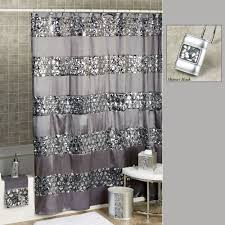 Sparkle Window Curtains by Sinatra Sequined Silver Shower Curtain