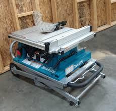 makita portable table saw makita 2705x1 10 inch contractor table saw with stand amazon ca