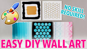 5 diy wall art designs anybody can make karenkavett youtube