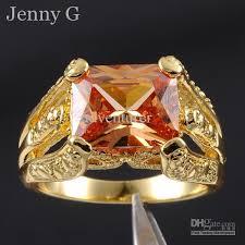 mens rings antique images Men 39 s antique orange topaz gemstone 18k yellow gold filled claw jpg