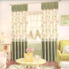 dark green butterfly flroal country house curtains