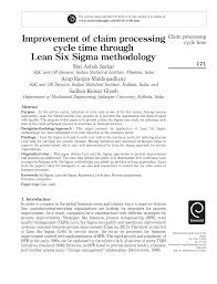 improvement of claim processing cycle time through lean six sigma