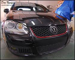 vw golf gti mkv matte black grill vinyl car wrap u2014 wannabe racer