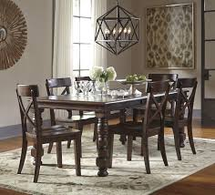 Ashley Dining Room Chairs 7 Piece Solid Pine Dining Table Set By Signature Design By Ashley