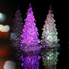 led light crystal acrylic artificial christmas tree buy