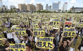 Map Of Okinawa Okinawa Thousands Of Japanese Demand U S Military Leave Time Com