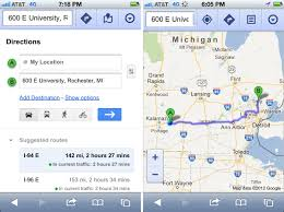 Map Directions Driving Ios 6 Maps Vs Ios 5 Maps Vs Maps Google Com Location Data