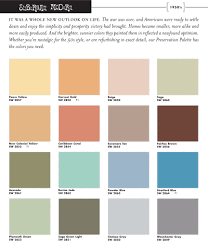 color palette for home interiors sherwin williams 1950s color palette paint pigments