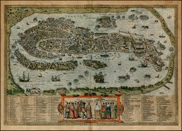 Venice Map Venice Archives Medievalistsnet 16th Century Birdseyeview Map Of