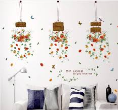 compare prices on glass wall decor online shopping buy low price flower baskets decorative wallpaper stickers diy decals glass wall decoration home decor kid children room decorat