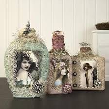 Shabby Chic Projects by Vintage Altered Shabby Chic Bottles Project By Decoart