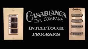 casablanca fan wall control casablanca inteli touch special program button sequences youtube