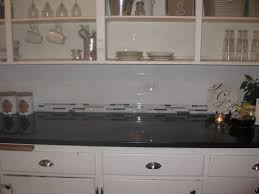 Large Tile Kitchen Backsplash Kitchen White Tile Kitchen Grey Kitchen Cabinet Black Wall Lamp