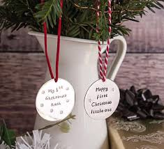 Personalised Baby S First Christmas Keepsake Bauble by Best 25 Personalised Christmas Tree Decorations Ideas On