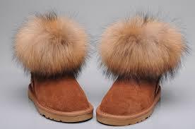 womens ugg fur boots style ugg 5854 fox fur boots mini chestnut boots