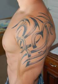 the 25 best tribal shoulder tattoos ideas on