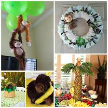 green baby shower decorations monkey baby shower decorations ideas 12687