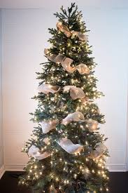 how to put ribbon garland on a tree tree