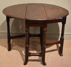 Wooden Drop Leaf Table A Charming Little 17th Century Oak Drop Leaf Table 1670 England