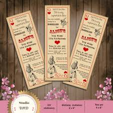249 best images about tutu tiara tea party savvy s 1st alice in wonderland birthday party invitation vintage playing