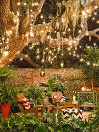 Outdoor Lightings by Love All Of The Lights In This Backyard Deco Pinterest