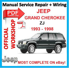 1998 jeep grand manual official workshop manual service repair for jeep grand zj