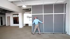 wall room divider versare operable wall sliding room divider youtube