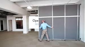 wall dividers versare operable wall sliding room divider youtube