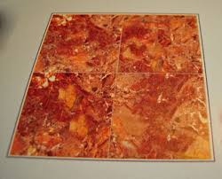 model orange faux marble floor tile 1 24 scale