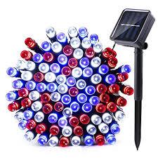 qedertek solar string lights amazon com qedertek solar christmas string lights 39ft 100 led 8