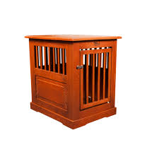 Oak End Tables Solid Oak Fortress End Table Pet Crate