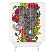ruby the elephant shower curtain valentina ramos