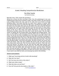 reading worksheets fifth grade reading worksheets